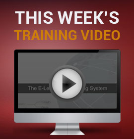 This Week's Training Video